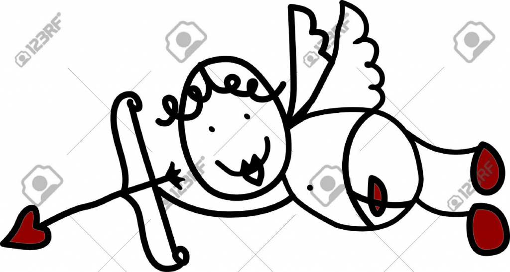 1024x547 Cute Simple Drawings Of Love We Are In Love With This Cute Cupid