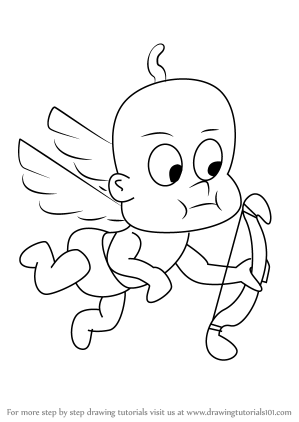 598x844 Learn How To Draw Cupid From Uncle Grandpa (Uncle Grandpa) Step By