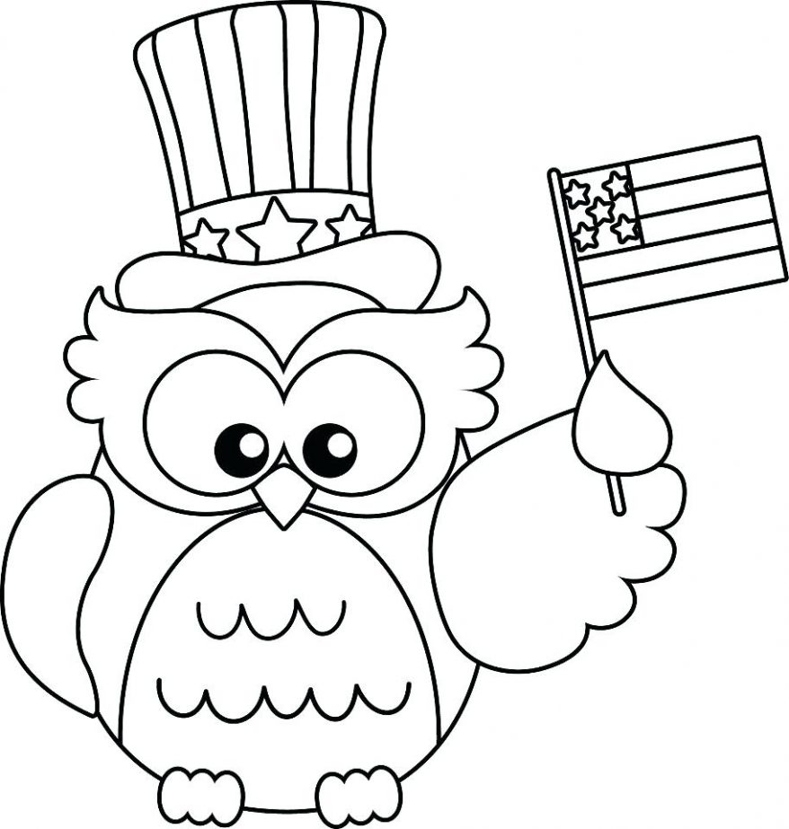 878x923 Cute Owl Coloring Pages
