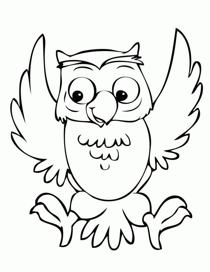 670x867 Coloring Pages Impressive Coloring Pages Draw An Owl Cute