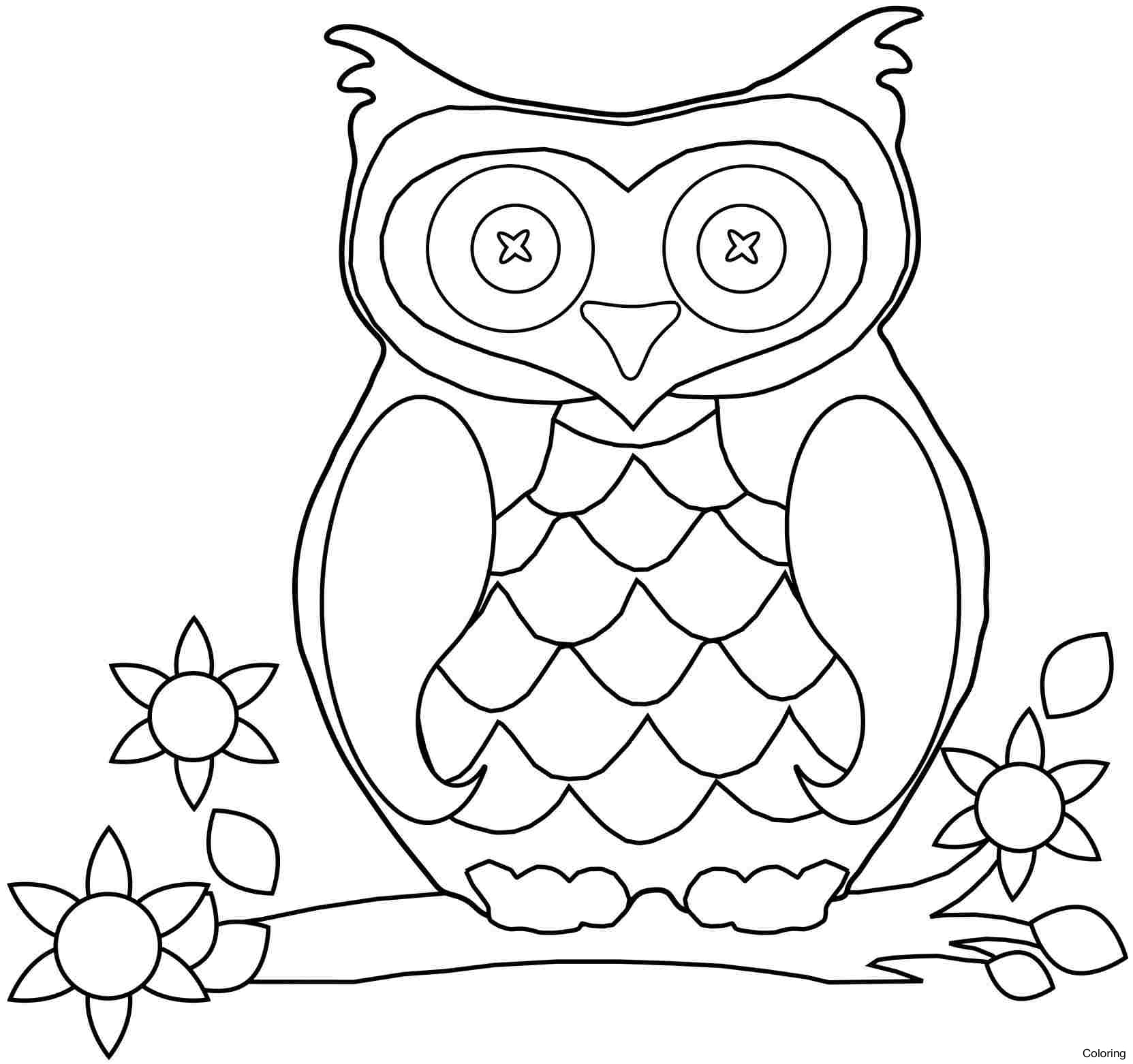 1663x1562 Cute Owl Coloring Pages For Girls Free Download Image 12f Easy