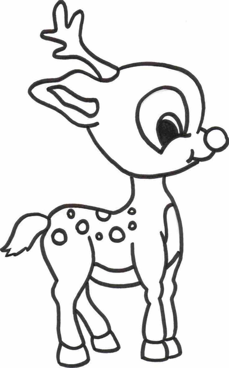 736x1181 Easy Reindeer Drawing Printable Coloring Pages For Kids