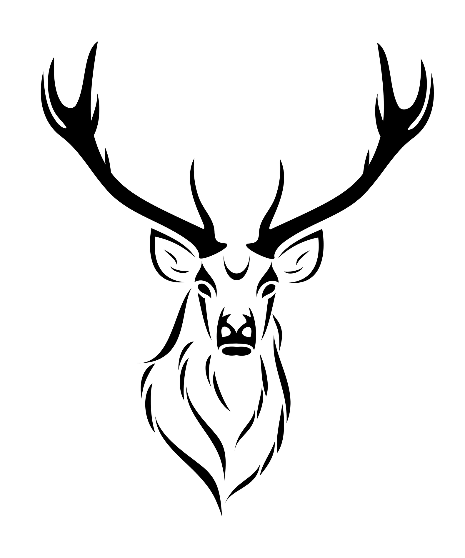 Easy Deer Head Drawing
