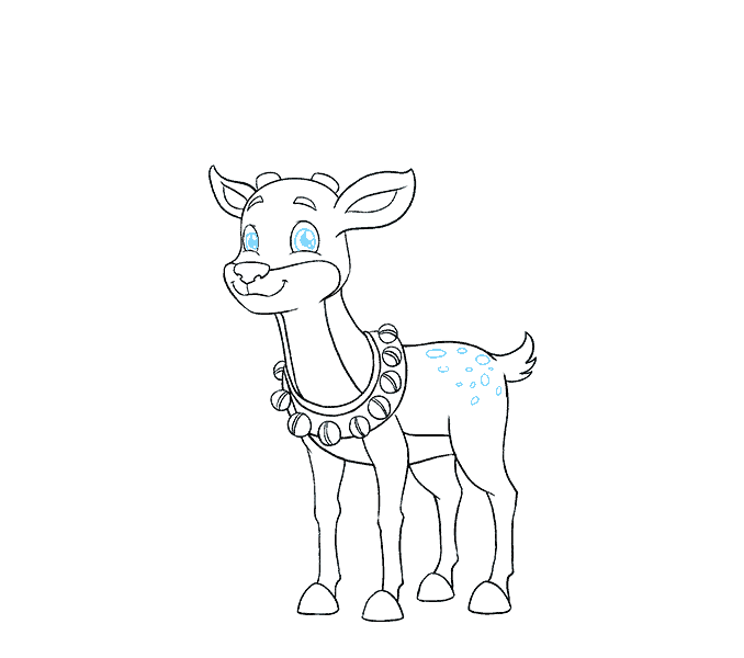 678x600 How To Draw A Reindeer In A Few Easy Steps Easy Drawing Guides