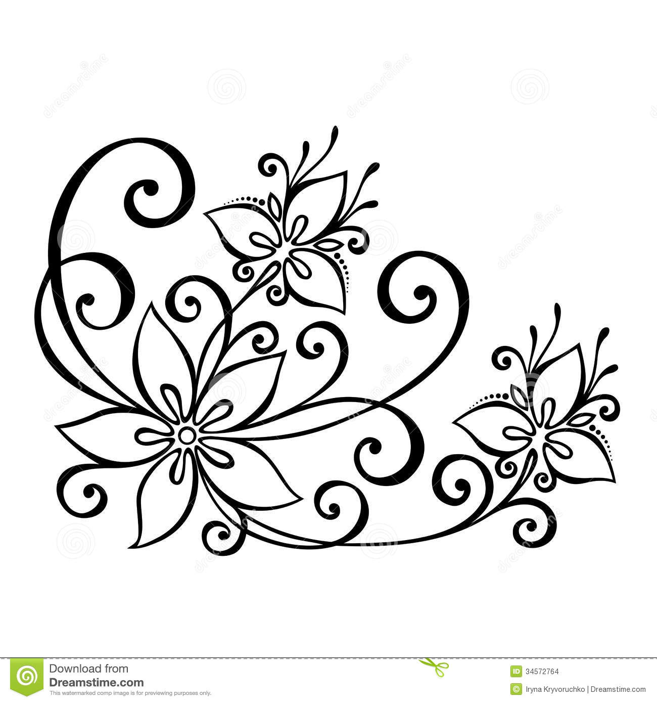 1300x1390 Flower Design Drawing Paper Easy Floral Designs To Draw
