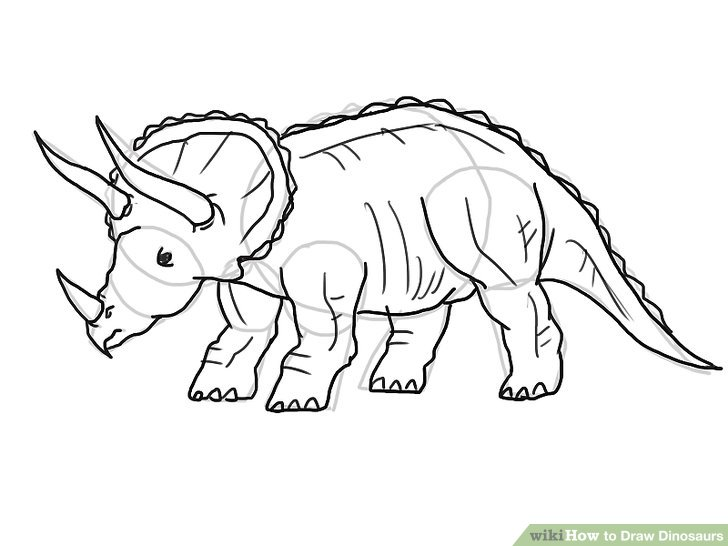 Line Drawing Dinosaur : Easy dinosaur drawing at getdrawings free for