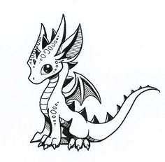Easy Dragon Drawing
