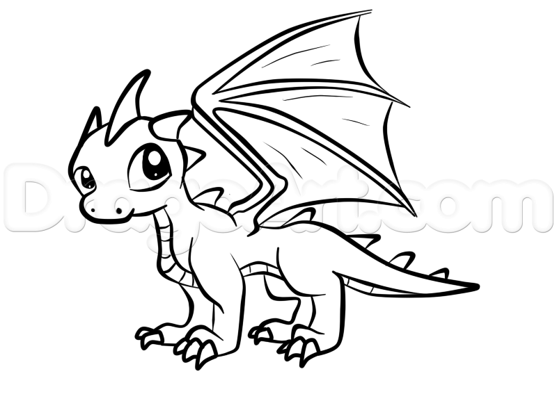 Easy Dragons Drawing at GetDrawings.com | Free for ...