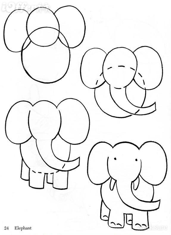 575x791 easy to draw animals for kids