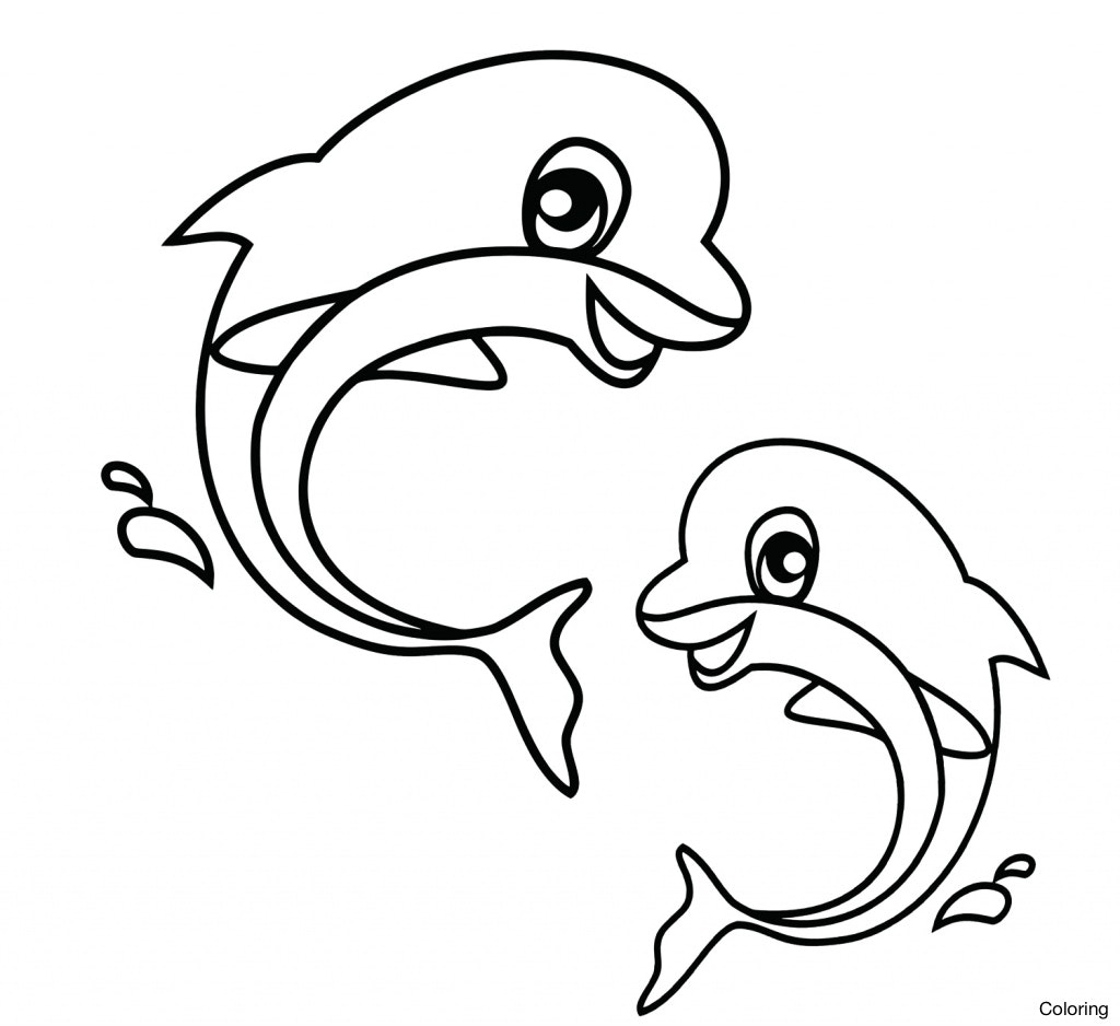 1024x938 Easy To Draw Aquatic Animals Sea Drawing Animal Drawings Clipart