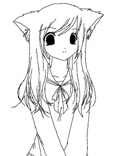 386x512 Anime Cute Cat Girl Anime Draw