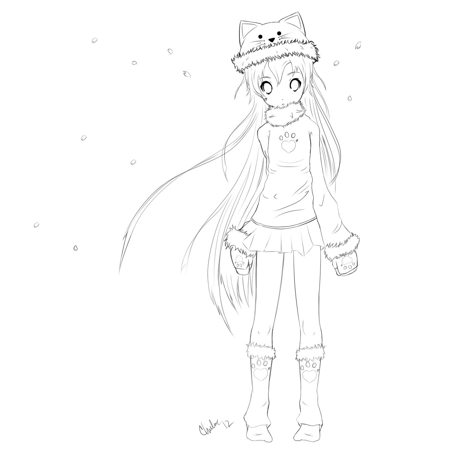 Easy Drawing Anime Girl At Getdrawings Com Free For Personal Use