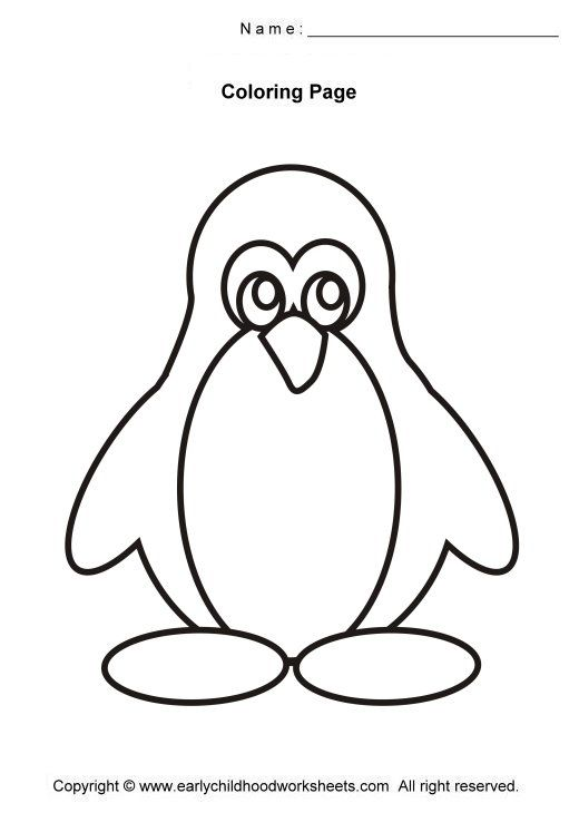 520x730 Simple Coloring Pages For Preschoolers
