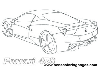 336x237 Drawn Ferarri Ferrari 458