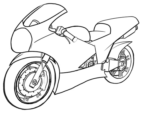 600x483 How To Draw Vehicles Motorcycles