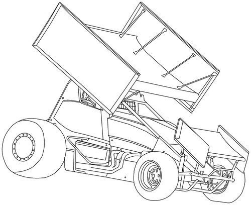 500x408 Photos Sprint Car Outline Drawing,