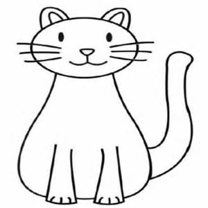 300x300 Easy Cat Coloring Pages