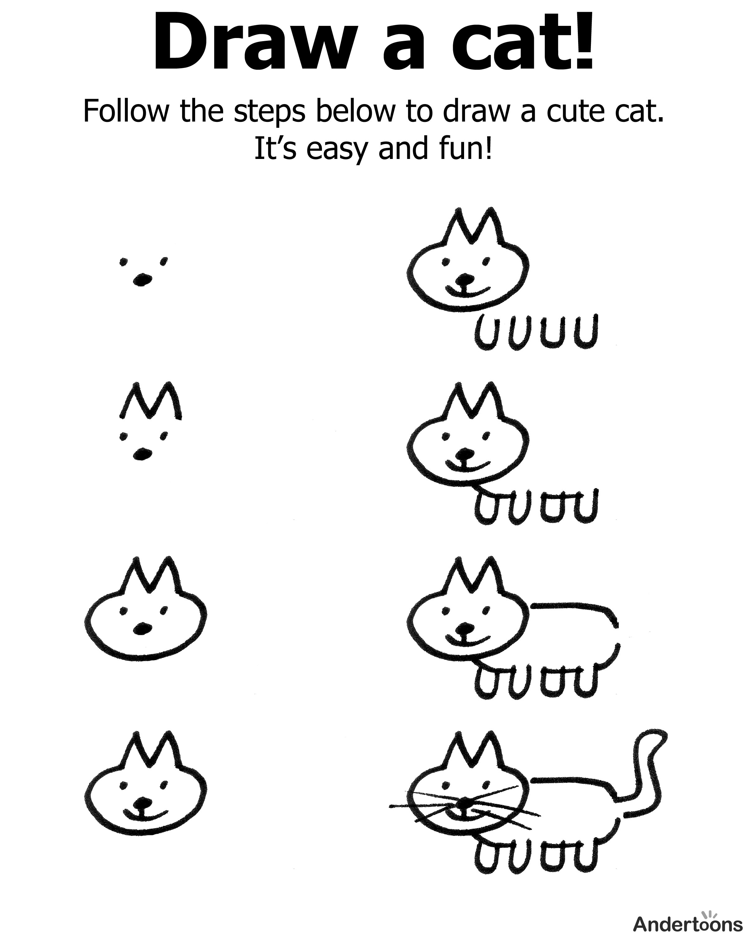2400x3000 How Draw A Cat Easy How
