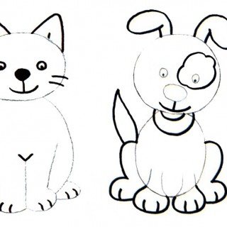 320x320 Tag For How To Draw Puppies Kittens Step By Step Dogs