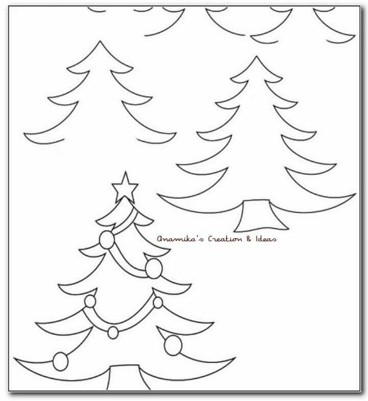 Easy Drawing Christmas Tree