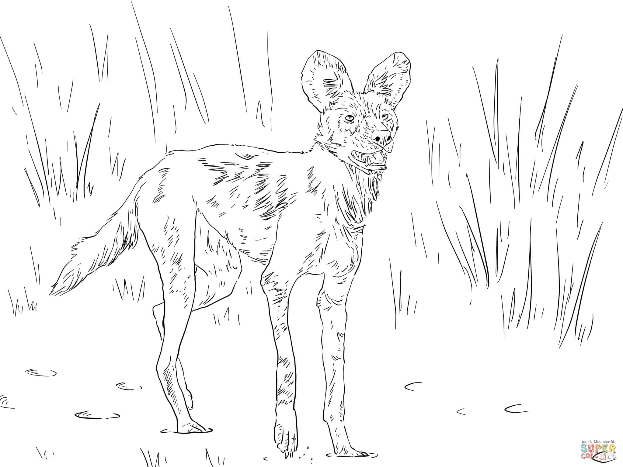 2048x1536 Drawings Of African Hunting Dogs To Color Dog