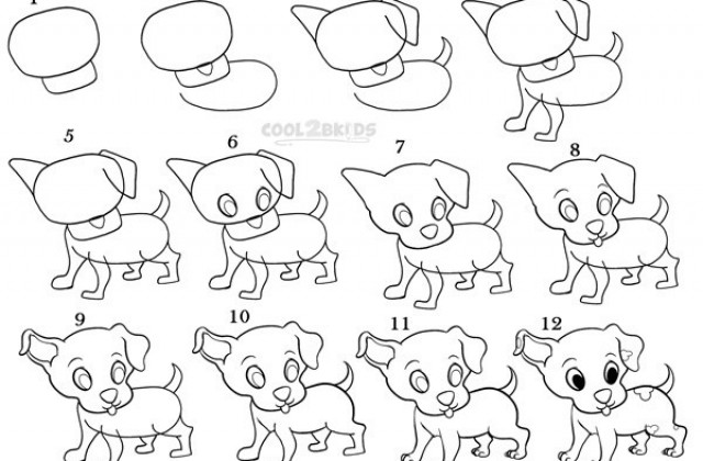 640x420 Tag For Easy To Draw Puppies How To Draw Puppies Step By Success