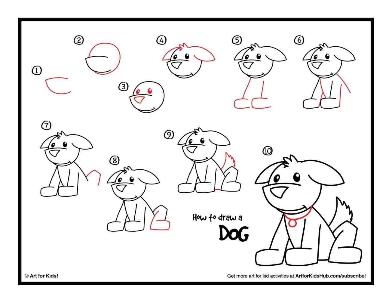 1304x1007 A How To Draw Dogs Caron Dog From Letters G And H Easy Step By