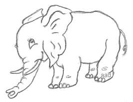 Easy Drawing Elephant
