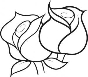 302x266 Photos Easy Flowers Drawings,