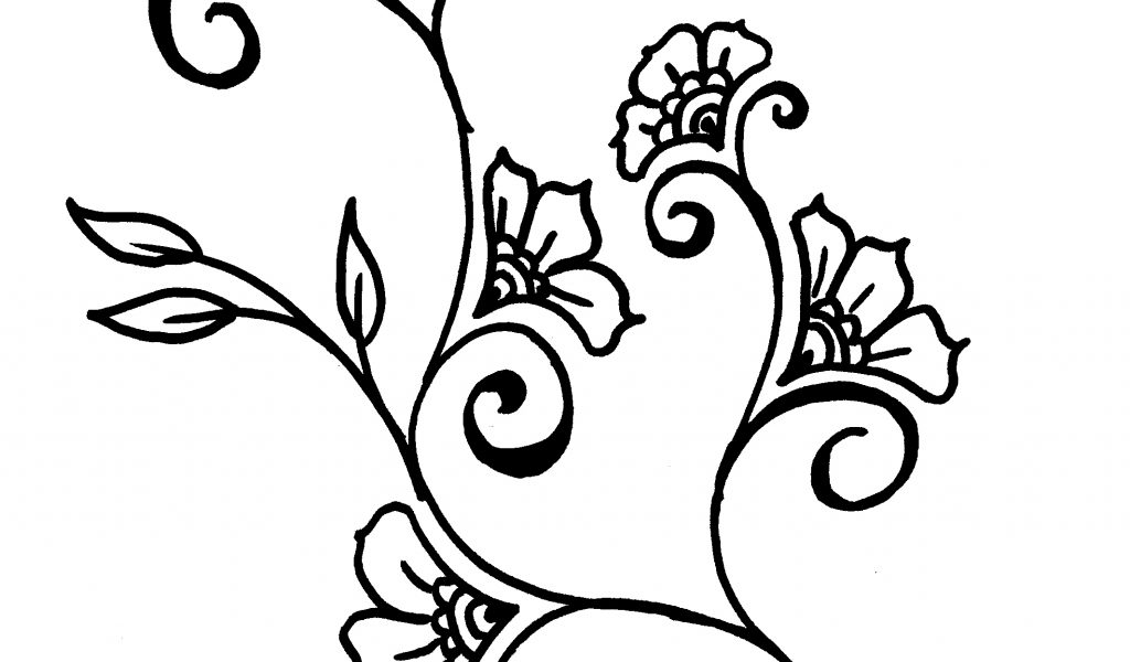 1024x600 Drawings Of Vines And Flowers Easy Drawings Of Flowers And Vines