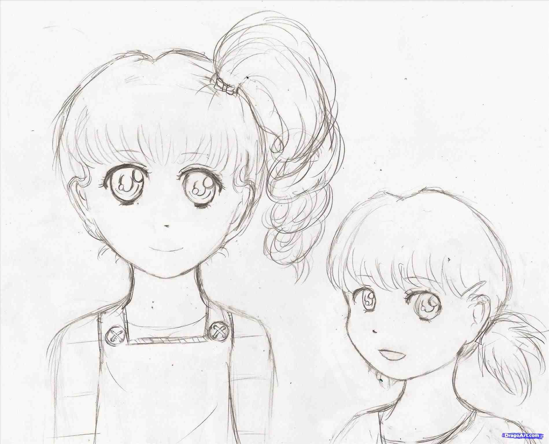 1899x1536 The Images Collection Of For Girls Step By Step Sketch Drawn Manga