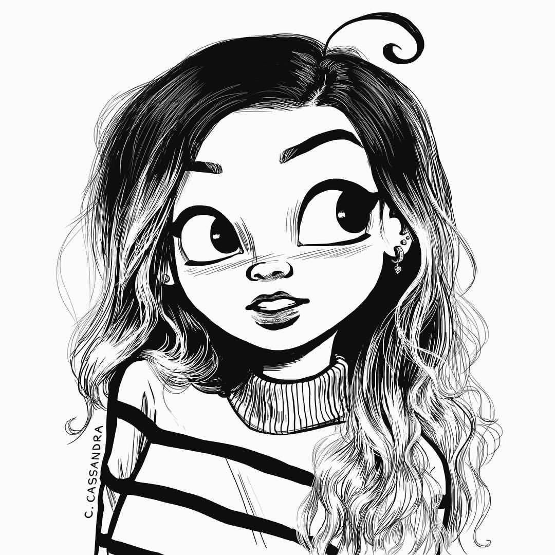 1080x1080 Cute Drawings For Girls Easy Drawing For Girls Draw Cute Easy Girl