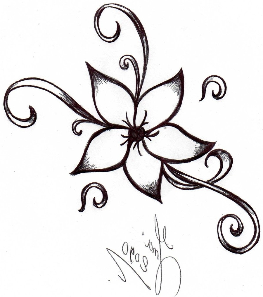 900x1016 Simple Flower Drawing Ideas Cute Easy Flowers To Draw