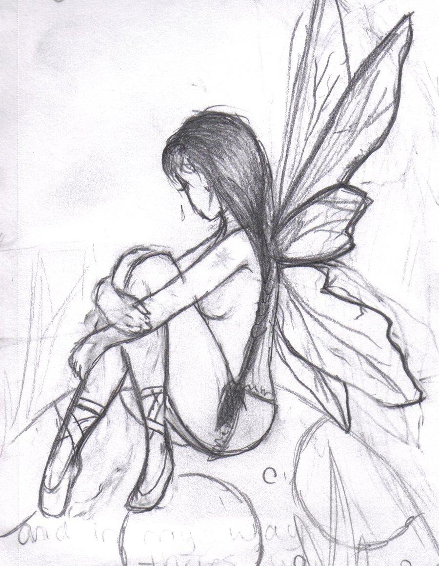 900x1159 Fairy Pencil Drawing Pencil Easy Drawings Of Fairy Dark Fairy
