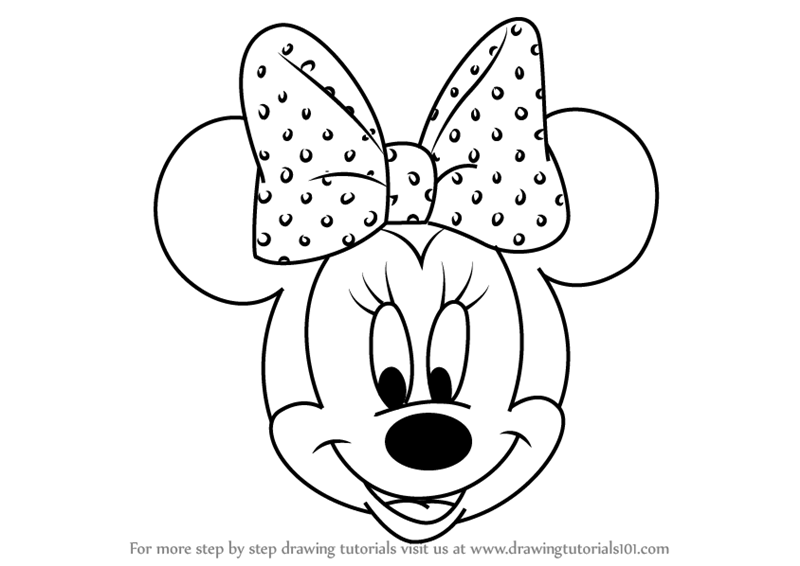 800x566 Learn How To Draw Minnie Mouse Face From Mickey Mouse Clubhouse