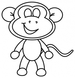 Easy Drawing Monkey