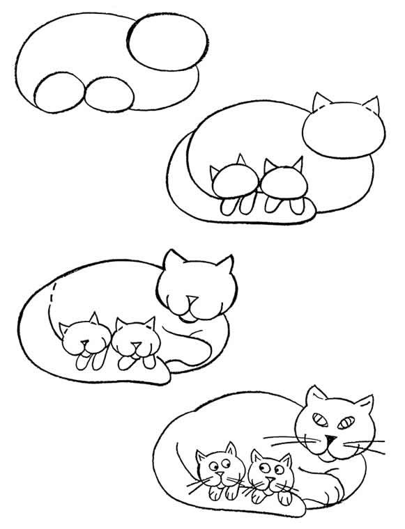 Easy Drawing Of A Cat