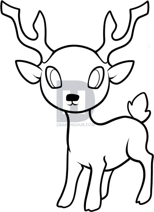 523x720 gallery easy to draw deer