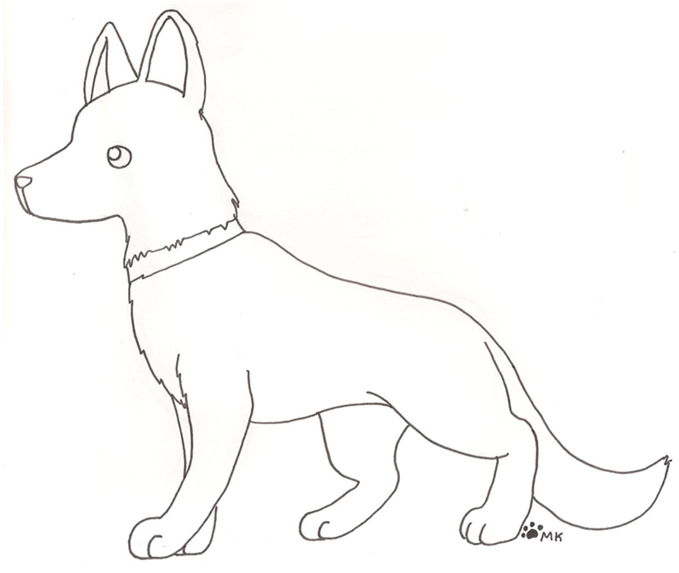 Image of: Images 954x805 Pin Drawn Dog Drawn German Shepherd 4 How To Draw Cute German Easydrawingsandsketchescom Easy Drawing Of Dog At Getdrawingscom Free For Personal Use