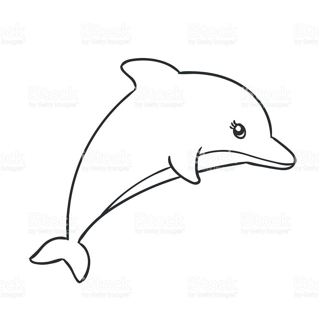 Line Drawing Dolphin : Easy drawing of a dolphin at getdrawings free for