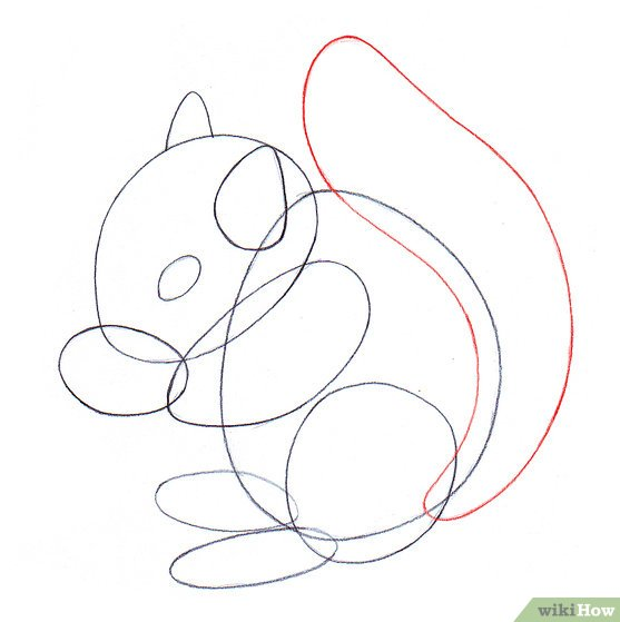 Easy Drawing Of A Squirrel