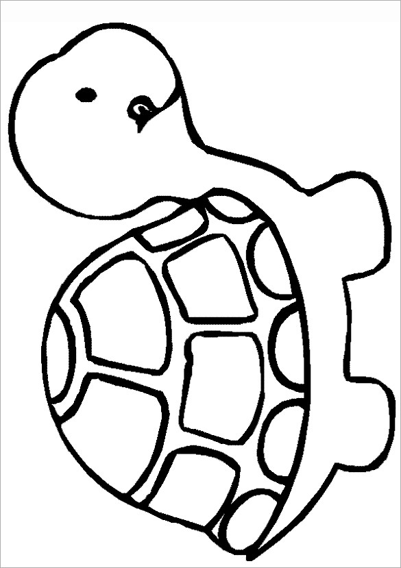 Easy Drawing Of A Turtle