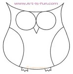 236x239 Easy To Draw Owl Arts And Crafts Owl, Drawing