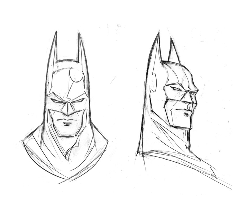Easy Drawing Of Batman At Getdrawingscom Free For Personal Use
