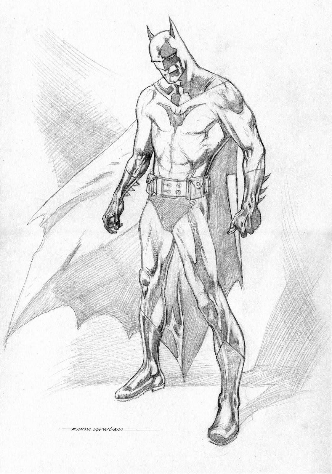 1121x1600 Easy Pencil Drawings Of Batman Kevin Nowlan Batman Pencil Drawing