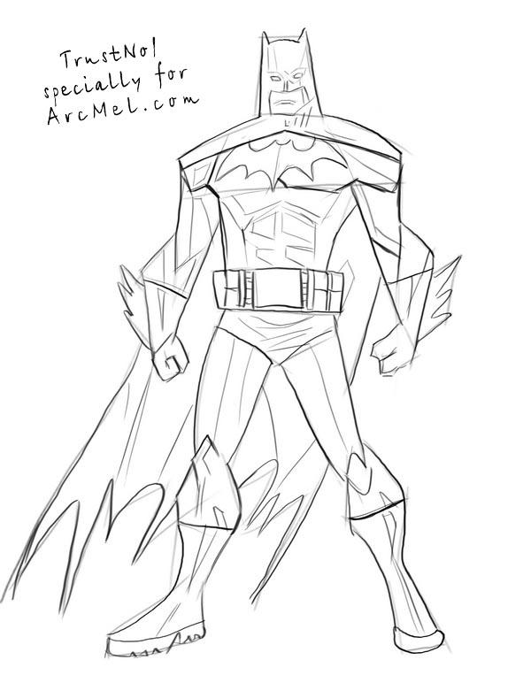 600x772 how to draw batman step by step arcmel com