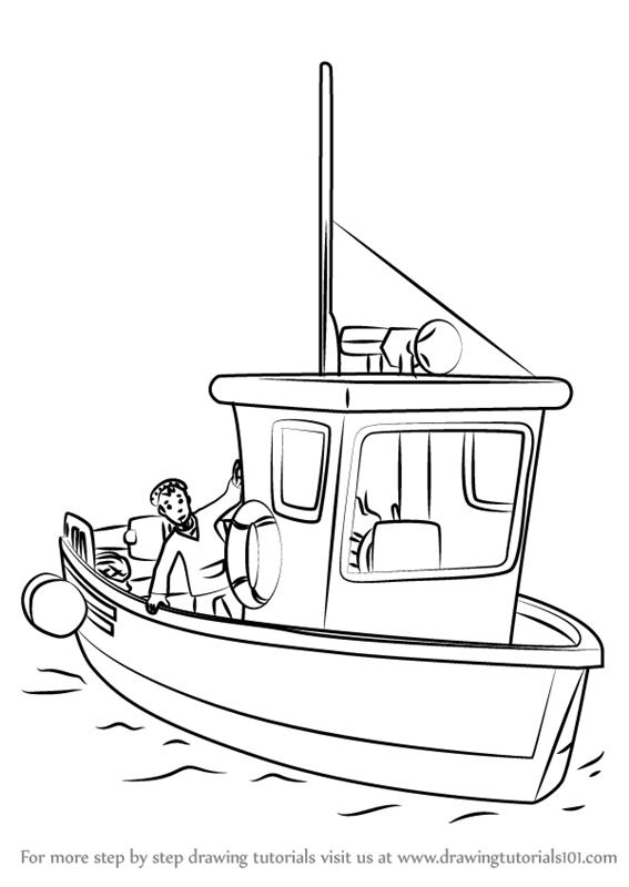 567x800 Learn How To Draw Charlie Jones' Boat From Fireman Sam (Fireman