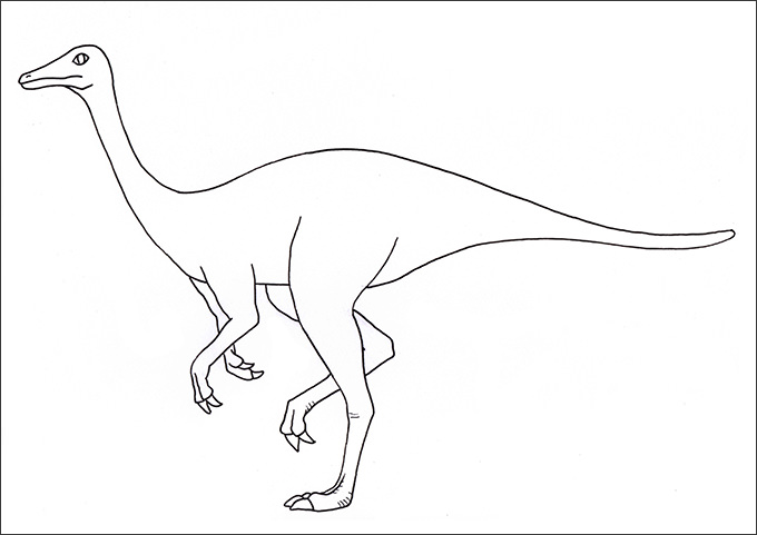 Easy Drawing Of Dinosaurs