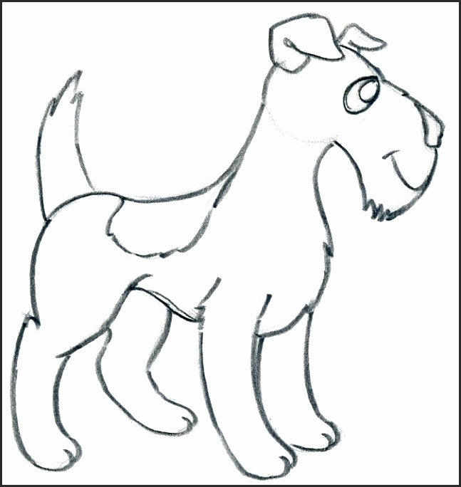 647x684 Easy Drawings Of Dogs Luvaf Awesome How To Draw Cartoon Dog Easily