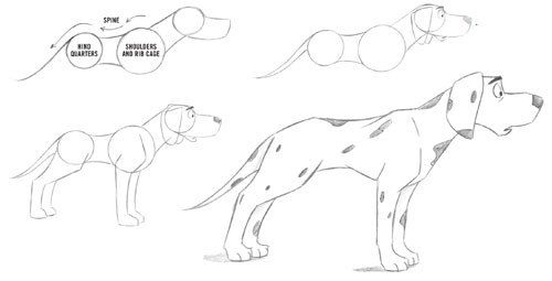 500x255 Image Result For How To Draw Dog Drawing Dogs Draw